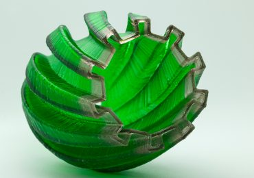 Colored glass ornament printed by Micron3DP. Photo via: Eran Gal-Or