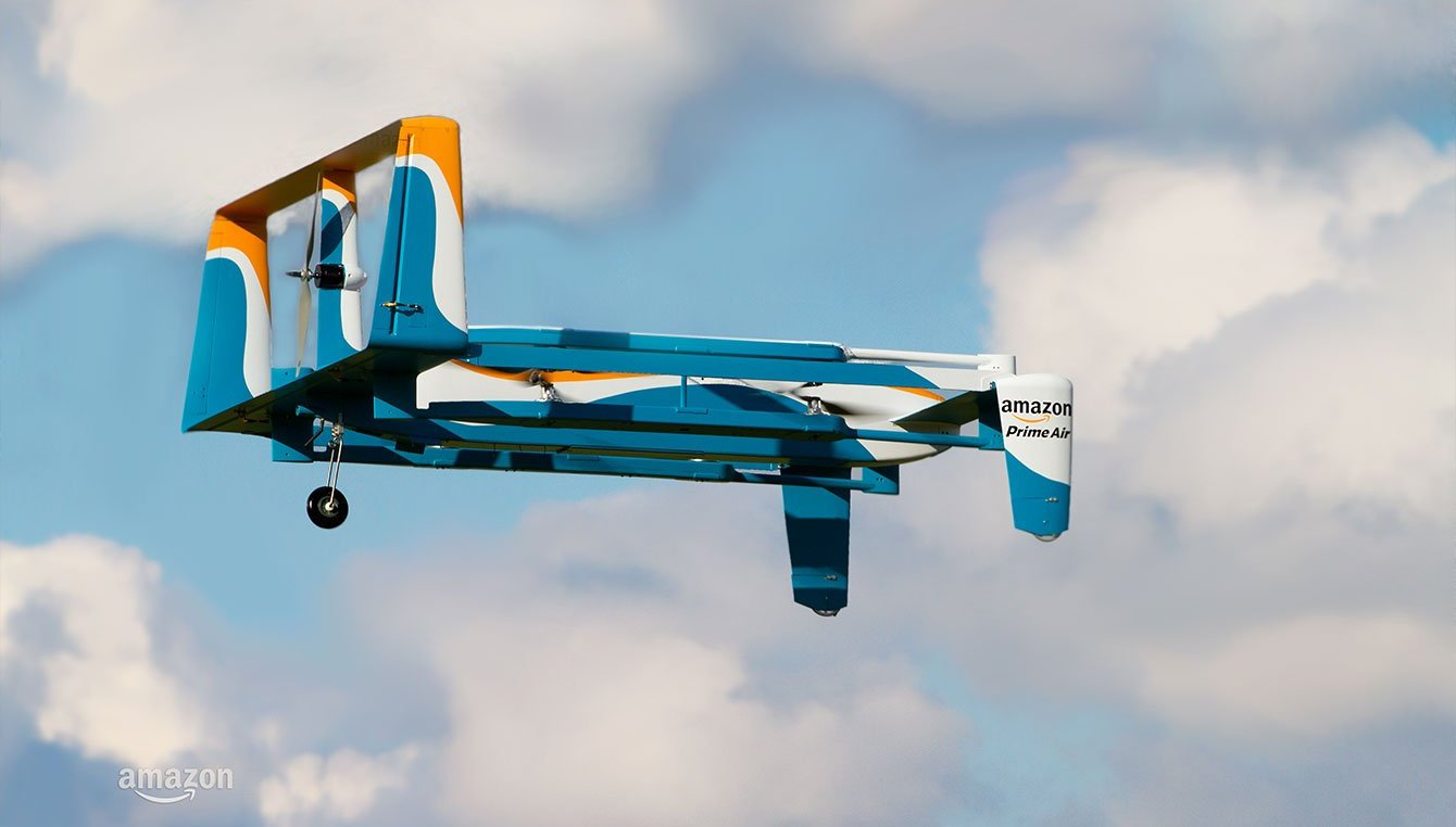 Amazon release video of their drone delivery service. Photo via Amazon.