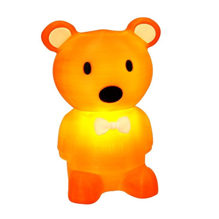 Winbo are offering a bear shaped working lamp made out of filament. Image via Winbo.
