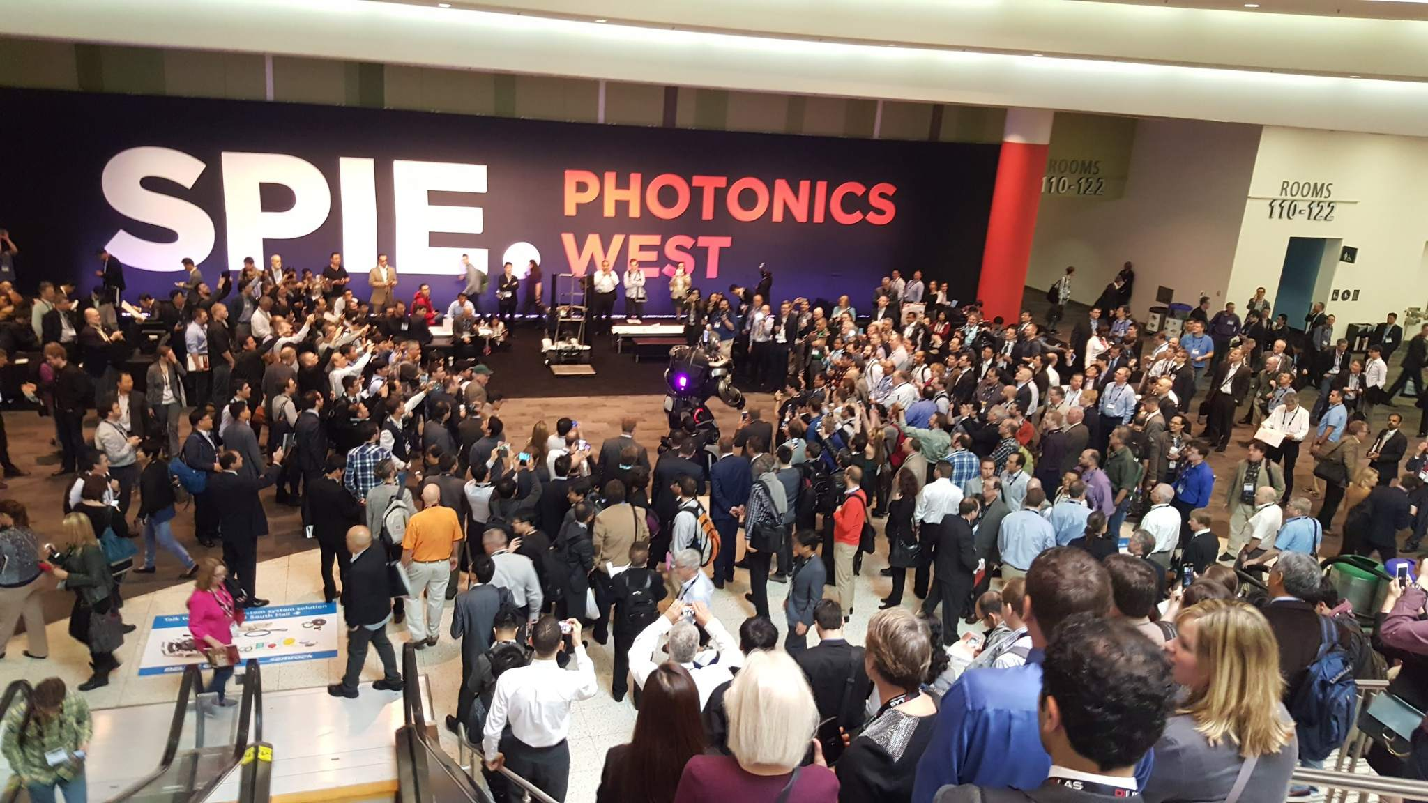 An image from Photonics West 2016. Photo via SPIE.