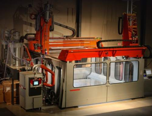 Thermwood upgrades Large-Scale Additive Manufacturing machine with ton and a half toolhead