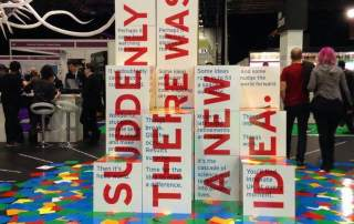 'Suddenly there was a new idea' Innovate UK stand at New Scientist Live conference 2016. Photo via: Innovate UK on Facebook