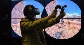 'The future is now'. Gaming on a HTC Vive. Photo by: Red_Shuheart on Flickr