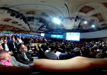 Panoramic photo of the crowd at CES. Photo by: Mark Pesce on flickr