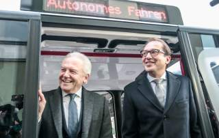 Deutsche Bahn Chairman Dr. Rüdiger Grube and Transport Minister Alexander Dobrindt. Photo via Euref Campus.