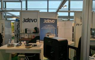 3Devo Next 1.0 Industrial Desktop 3D printing filament extruder. Photo by Michael Petch.