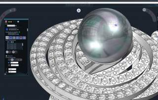 Type3 3DESIGN software used to create a ring. Image via: Type3