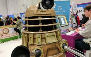 A dalek from Bett 2017. Photo by Michael Petch