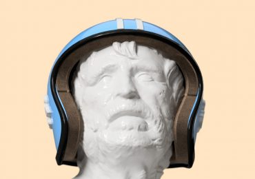 Adam Molnar's Jet Helmet Concept 2 designed in Fusion 360. Image via: Autodesk Fusion 360 gallery