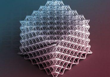 A complex nanolattice structure. Image: D. Jang / Caltech.edu