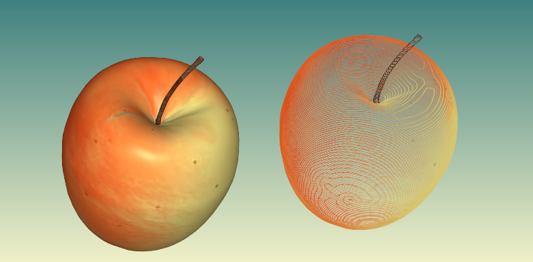Slicing full color 3D models in Polygonica. Image via the company's website.