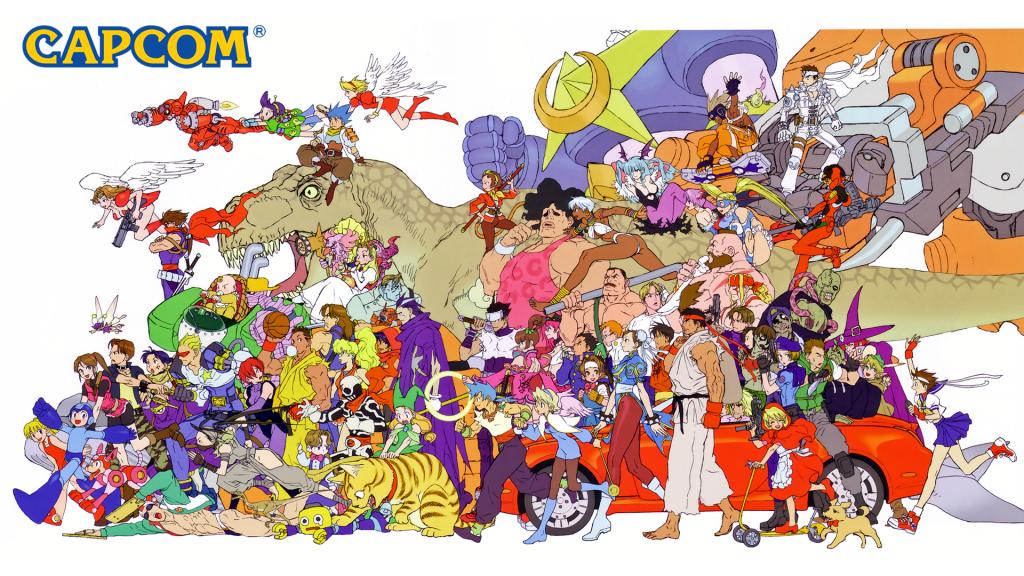 Classic Capcom characters. Image via GamesRadar.