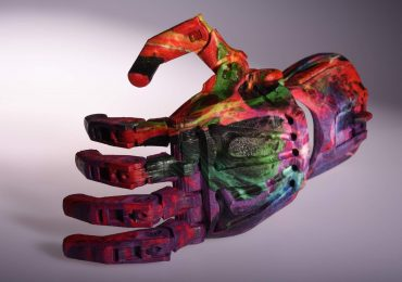 Mcor 3D printed prosthetic hand. Photo via: Mcor CMO Deirdre MacCormack