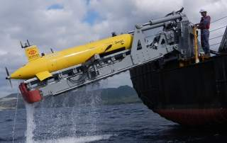 One of ISE's AUV submarines. Image via International Submarine Engineering.