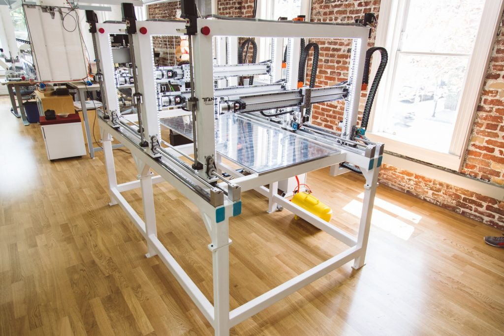 Cronus 3D printer powered by Project Escher. Photo via: Titan Robotics