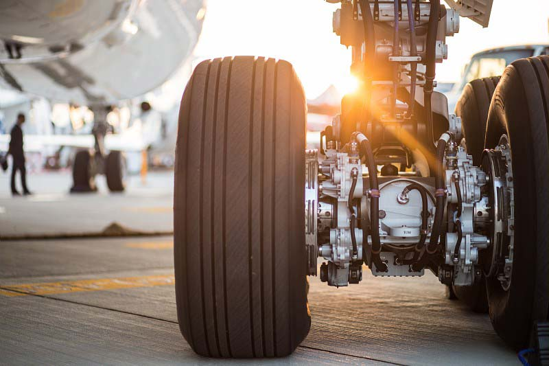 Safran's Landing gear which will test the application of FAST-forge titanium. Photo via Safran Group.