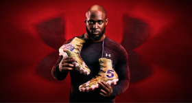American football running back Leonard Fournette is Under Armour's most recent poster boy. Photo via: UnderArmour on Twitter