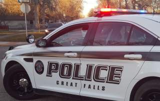 Great Falls Police Department car Photo via: GFPolice on Facebook