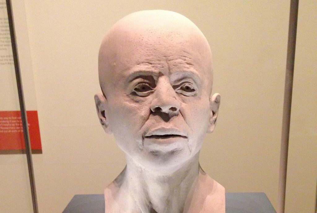 RN-DS Partnership's facial reconstruction of the Stone Age Jericho male.