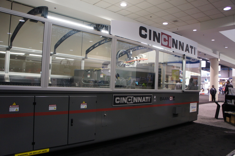 Scale of the Cincinnati Inc. BAAM machine. Photo via: e-ci.com