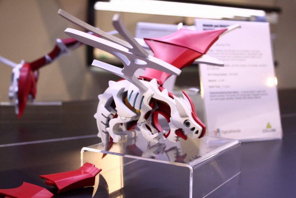 DWS Dragon 3D Print from CES 2017.
