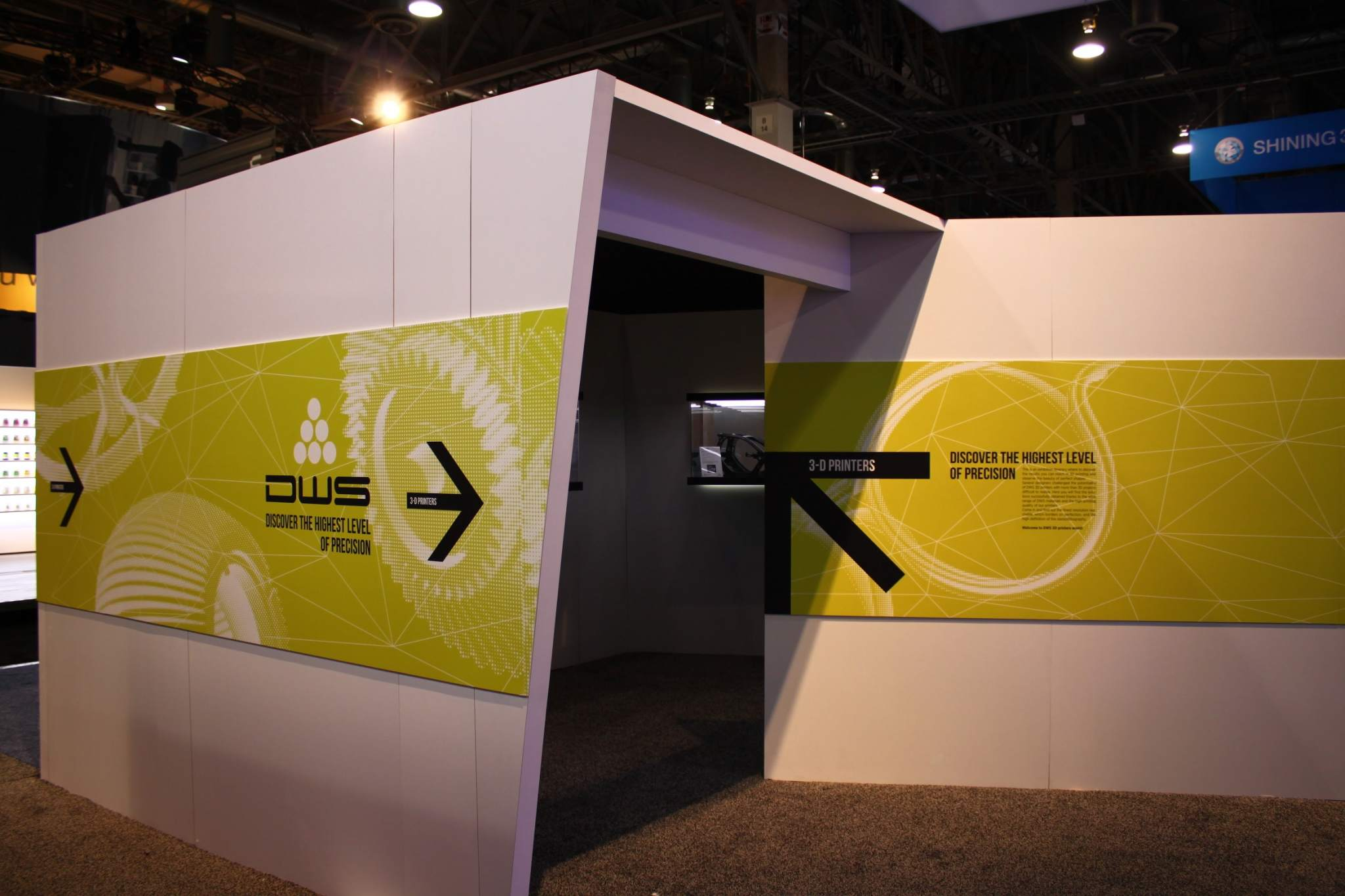 Entering the DWS booth at CES. Photo via DWS.