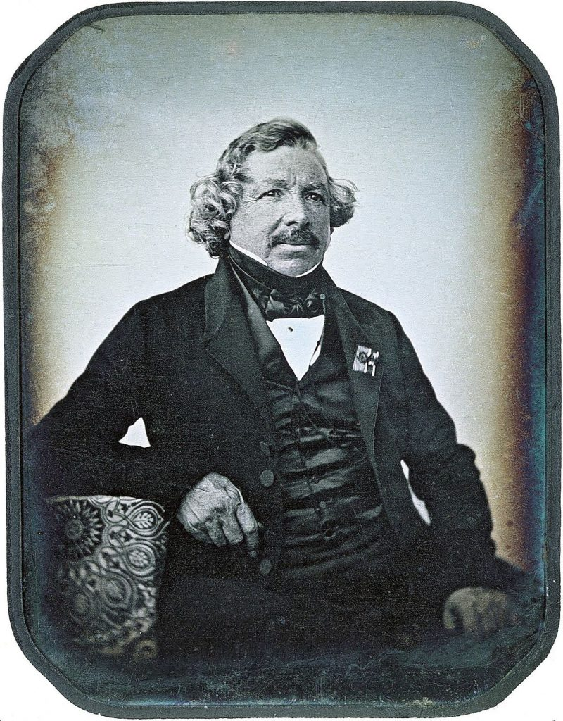 Daguerreotype portait of the inventor Louis-Jaques-Mandé Image by: Jean Baptiste Sabatier Blot
