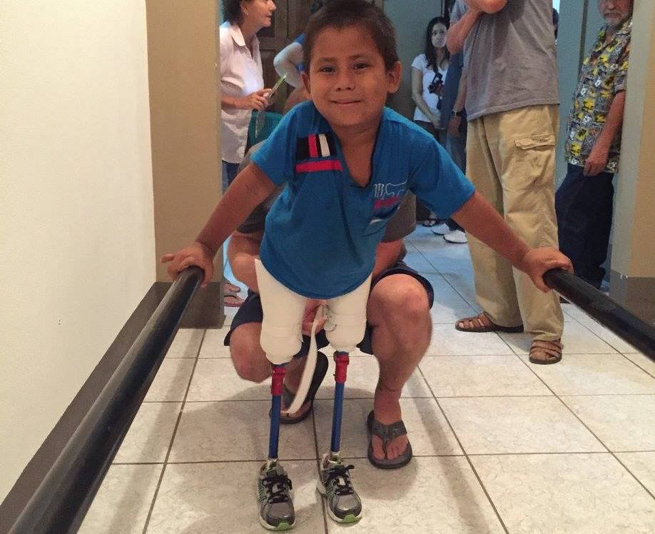 One of LifEnabled's happy patients. Photo via: lifenabled.org on Facebook