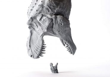 TRex models 3D printed by Carbon in their PR resin.