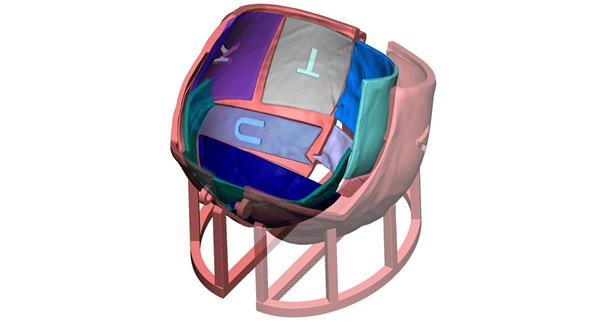 The digital 3D cranial imagery. Image via 3D Systems.