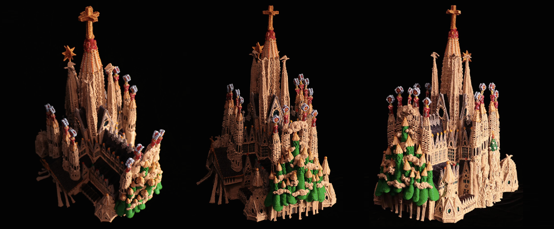 3 point perspective on Kuglmeier Sagrada Família. Image via 3Doodler.