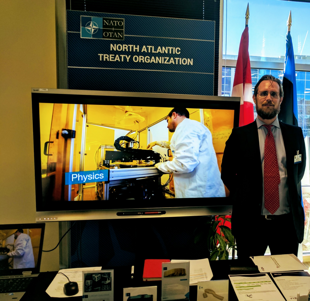3DPI's Michael Petch demonstrated several 3D printing technologies during NATO's Chiefs of Transformation Conference in December.