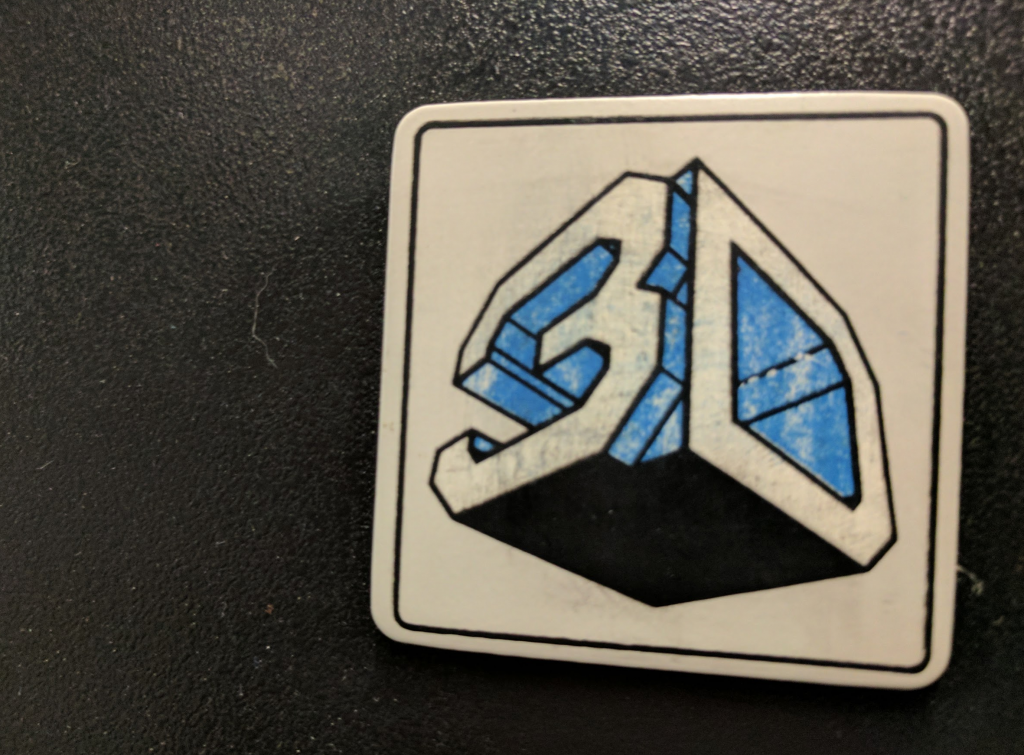 3D Systems' original logo on SLA-1. Photo by Michael Petch.