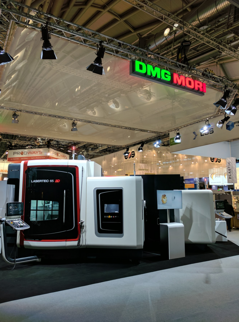 DMG Mori hybrid 3D printing. Photo by Michael Petch.