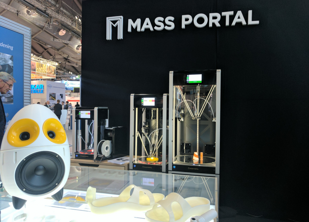 Mass Portal 3D printers. Photo by Michael Petch.