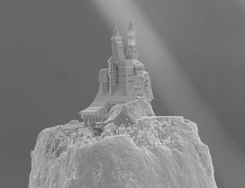 3D printing with pencil-point precision at TU Wien produces miniature castle