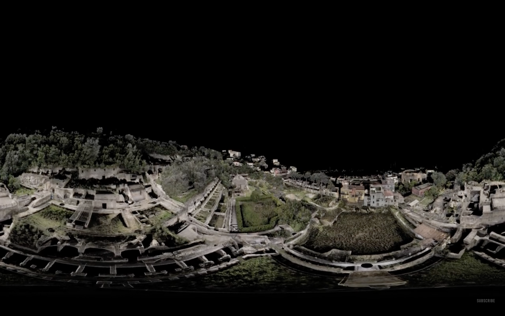 The interactive VR image of Naples. Screenshot via: BBC
