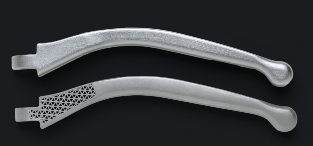 Markforged Metal X 3D printed metal components. Screenshot via: MARKFORGED on YouTube