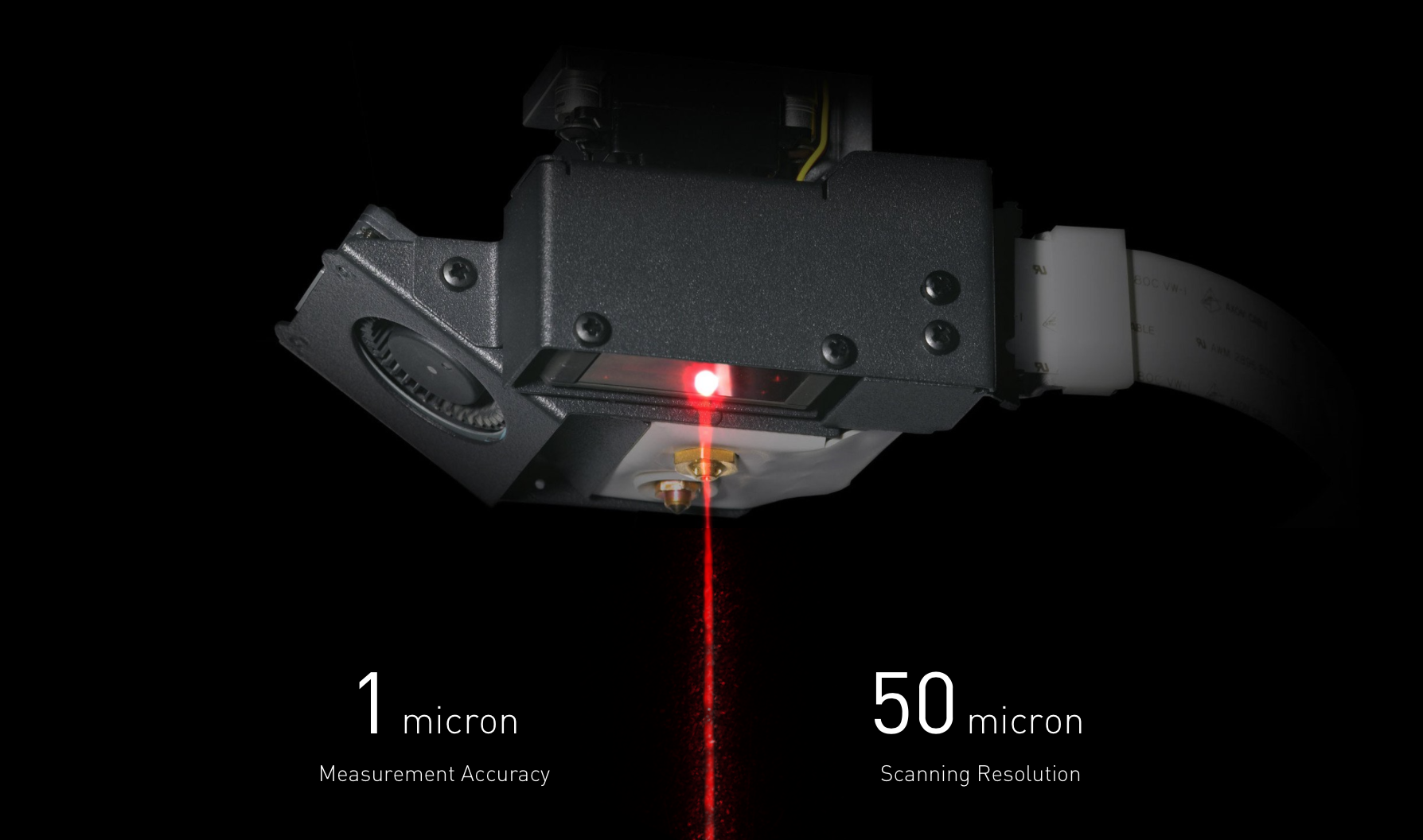 The laser inside MarkForged's Metal X 3D printer. Photo via: markforged