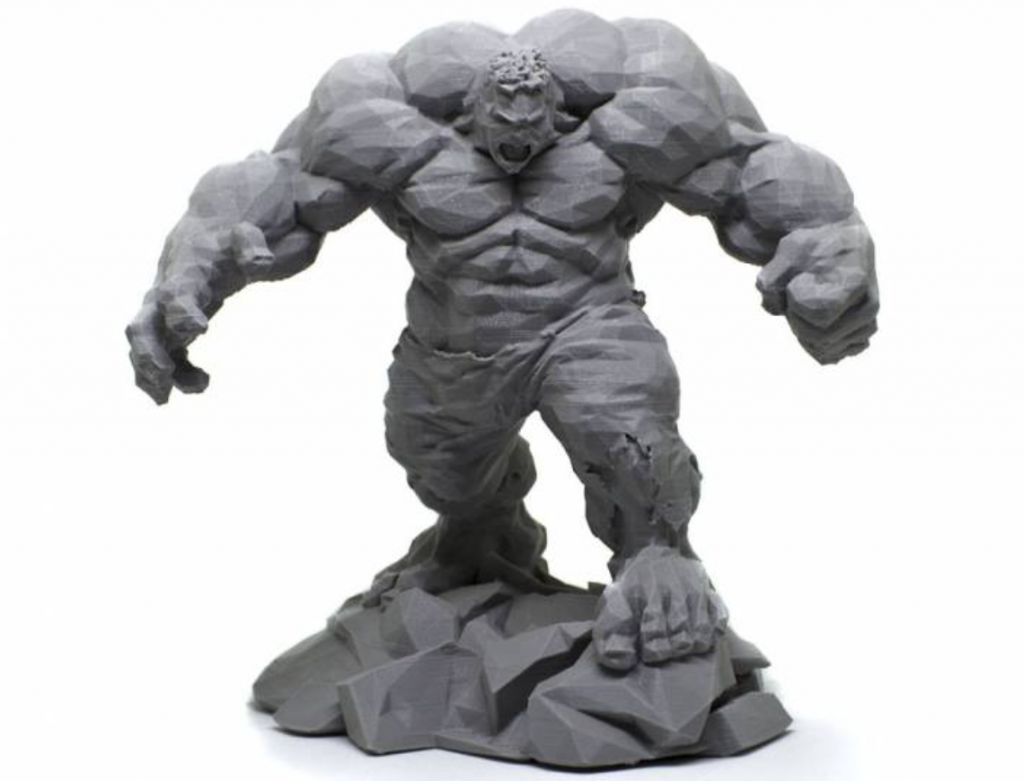 3D printed Low-Poly Hulk Photo by: Tom Davis/3DofTom