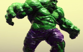 Tom Davis' Low Poly Hulk. Image via: MyMiniFactory