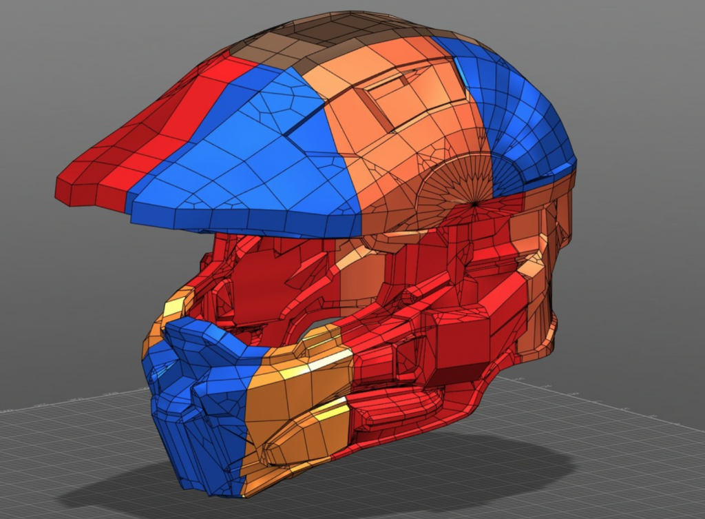A Halo 4 helmet designed by Anthony Tod (big_red_frog on Thingiverse) in Fusion 360. Image via: Autodesk 360 Gallery