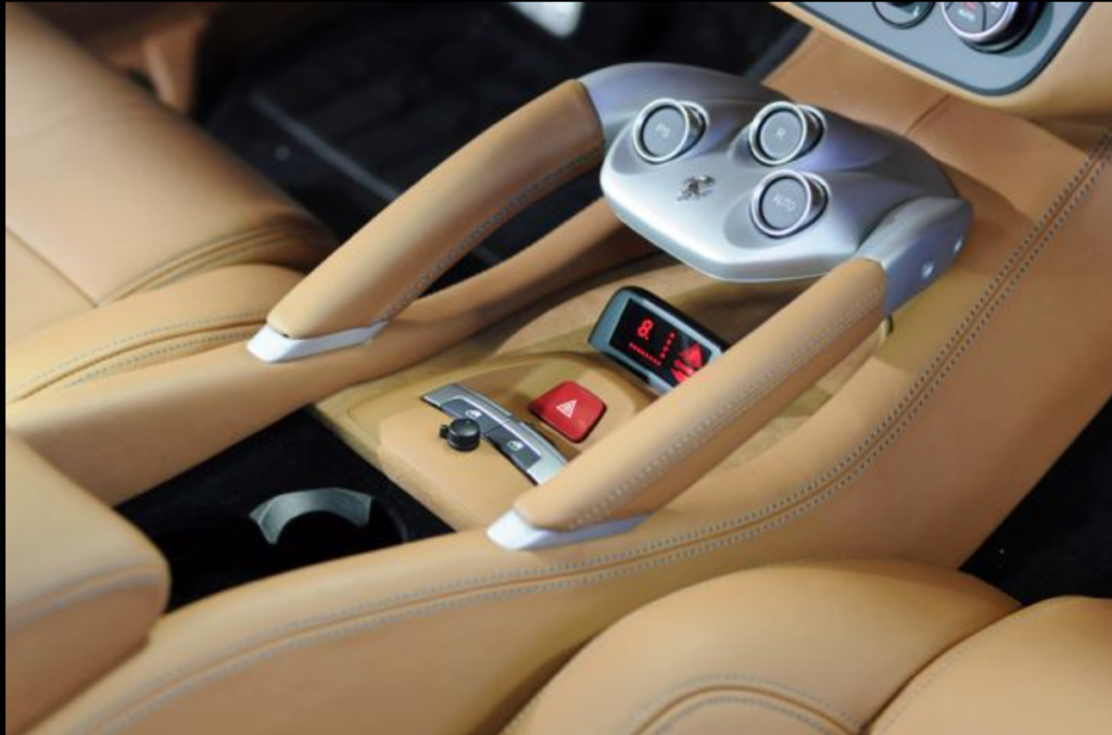 Custom radar pod inside a Ferrari FF. Photo via: Ai Design