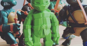 A low-poly Teenage Mutant Ninja Turtle by Jurica Pranjic. 'TEENAGE MUTANT NINJA TURTLES - TMNT' on MyMiniFactory. Photo via: Jurica Pranjic