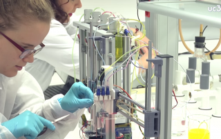 The Bioprinter being used by UC3M researchers. Screenshot via UC3M.