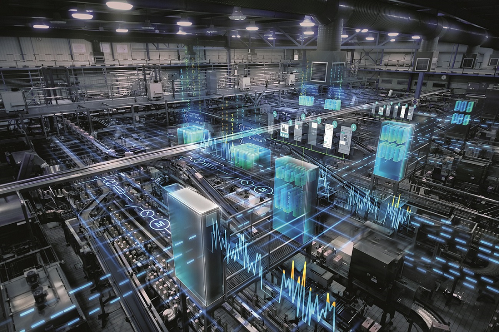 "A vision of the digital factory of the future from Siemens - who already have implemented ""Smart Factory"" principles into their Electronic Works manufacturing plant In Amberg, Germany. Image via: Siemens online community"