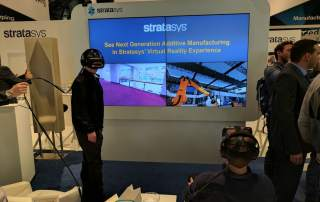 Stratasys booth demo at Formnext 2016. Photo by Michael Petch.