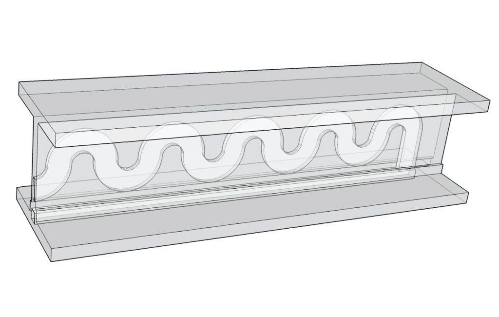 3D design of Cranfield's microfluidic device. Image via Dr. Matthew Partridge