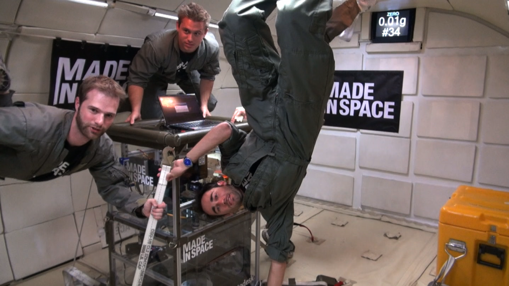 Made In Space testing their ZeroG 3D printer.