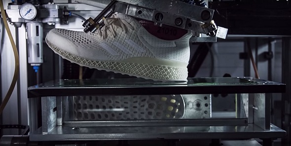 Adidas 3D printed shoe. Photo via Adidas.